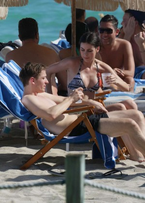 Lena Meyer-Landrut: Wearing Bikini on Vacation at a Beach in Miami (adds)-12