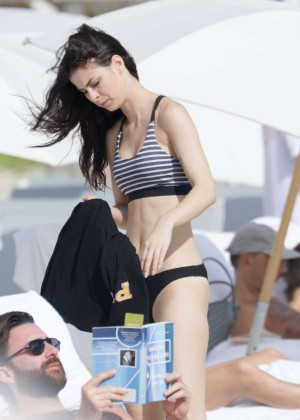 Lena Meyer-Landrut: Wearing Bikini on Vacation at a Beach in Miami (adds)-14