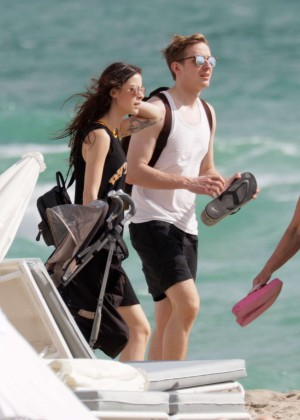 Lena Meyer-Landrut: Wearing Bikini on Vacation at a Beach in Miami (adds)-19