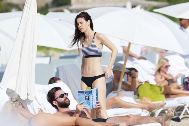 Lena Meyer-Landrut: Wearing Bikini on Vacation at a Beach in Miami (adds)-22