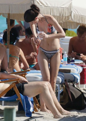 Lena Meyer-Landrut: Wearing Bikini on Vacation at a Beach in Miami (adds)-27