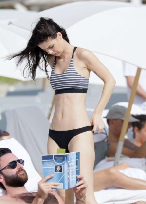 Lena Meyer-Landrut: Wearing Bikini on Vacation at a Beach in Miami (adds)-35