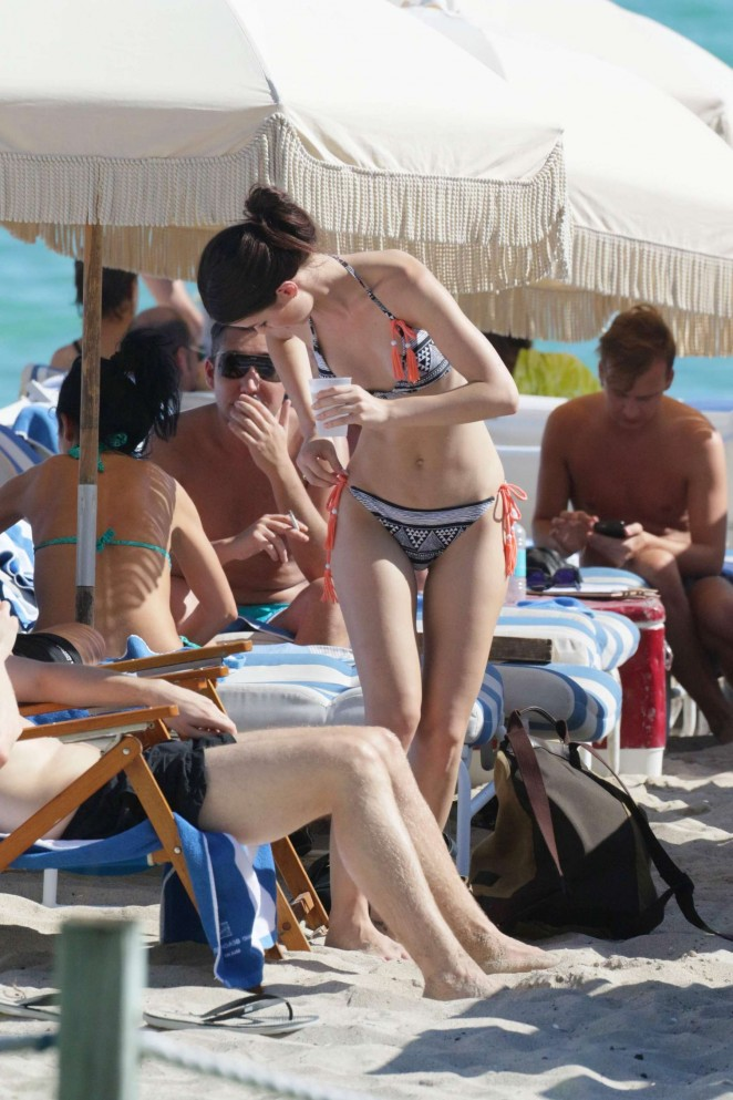 Lena Meyer-Landrut: Wearing Bikini on Vacation at a Beach in Miami (adds)-38