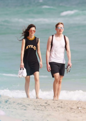 Lena Meyer-Landrut: Wearing Bikini on Vacation at a Beach in Miami (adds)-43
