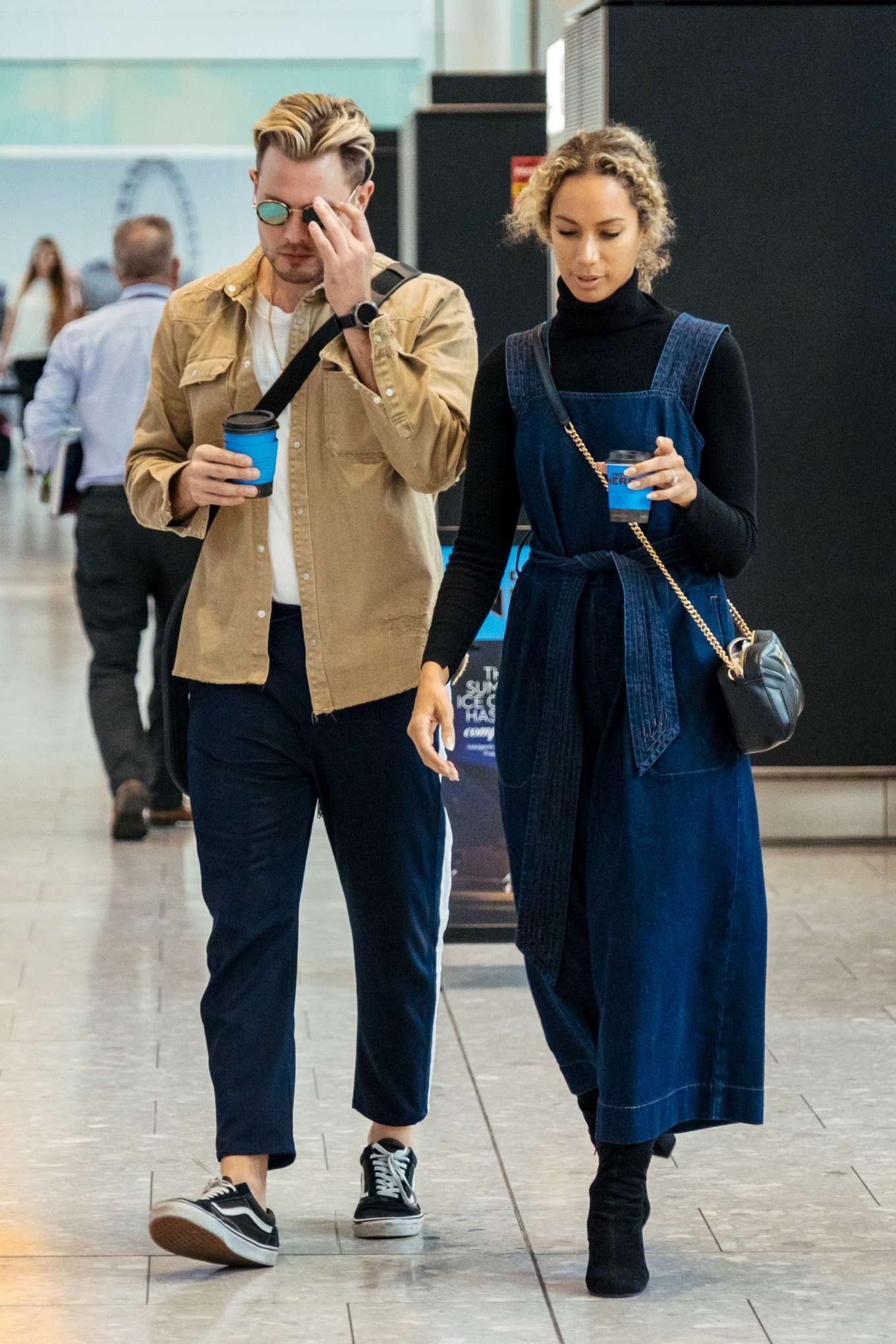 Leona Lewis and Dennis Jauch - Arrives at Heathrow Airport in London
