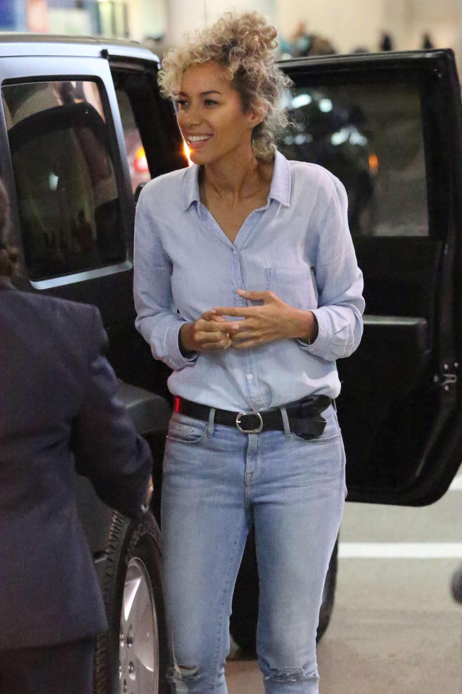 Leona Lewis Arrives at LAX Airport in Los Angeles