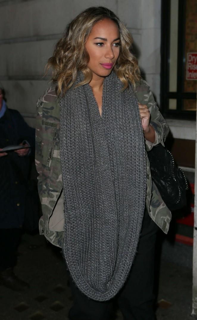 Leona Lewis - Arriving at BBC Radio 2 Studios in London