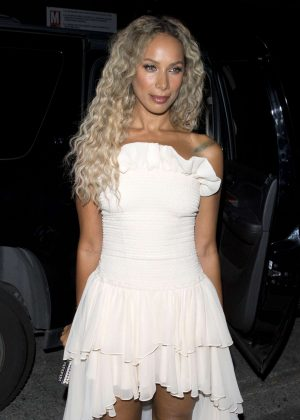 Leona Lewis - Arriving to the Simon Cowell 'Hollywood Star Celebration Party' in LA