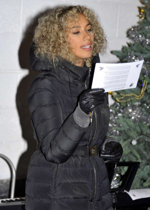 Leona Lewis at Hopefield Animal Sanctuary in Brentwood