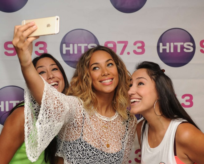 Leona Lewis: HITS 97 3 Radio Station -03