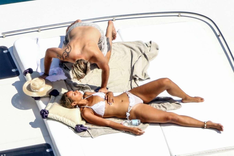 Leona Lewis in a white bikini as she enjoys her Honeymoon with Dennis Jauch in Capri