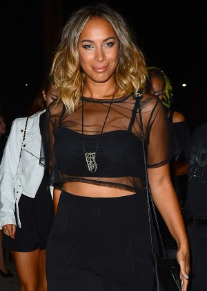 Leona Lewis - Leaving a Party at Graystone Manor