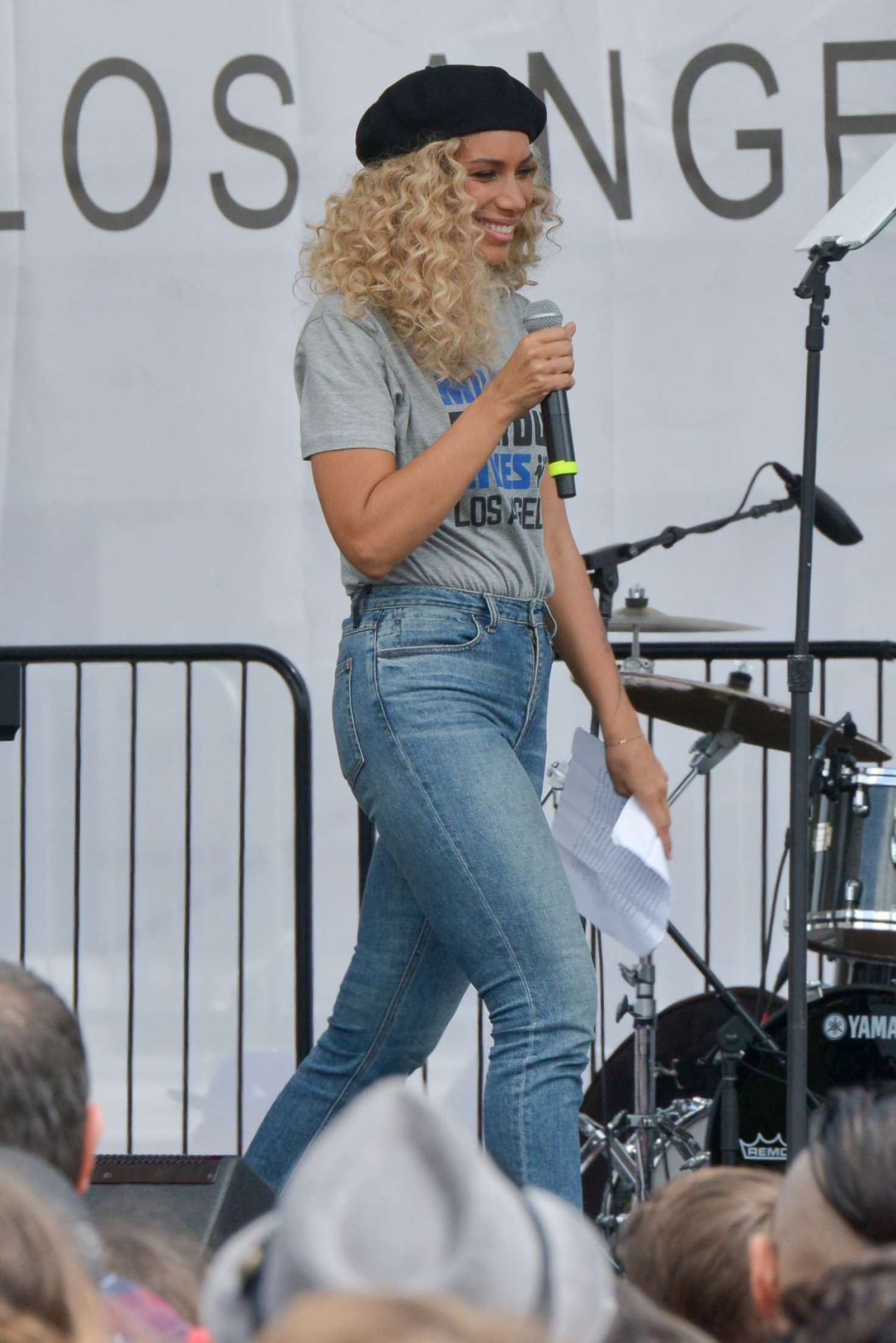 Leona Lewis 2018 : Leona Lewis: March at the anti-gun March For Our Lives -02