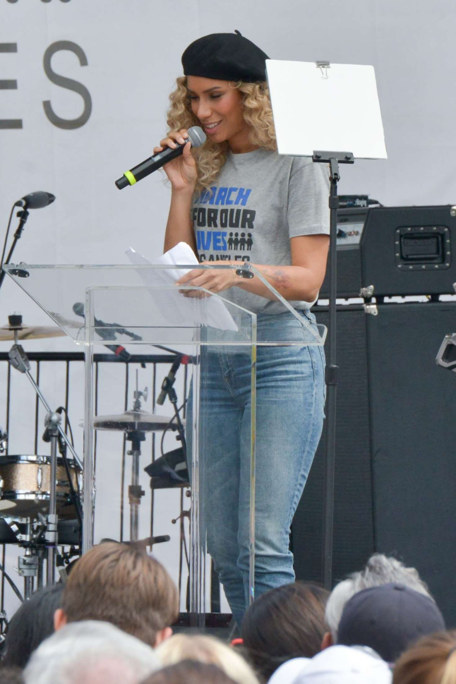 Leona Lewis 2018 : Leona Lewis: March at the anti-gun March For Our Lives -03