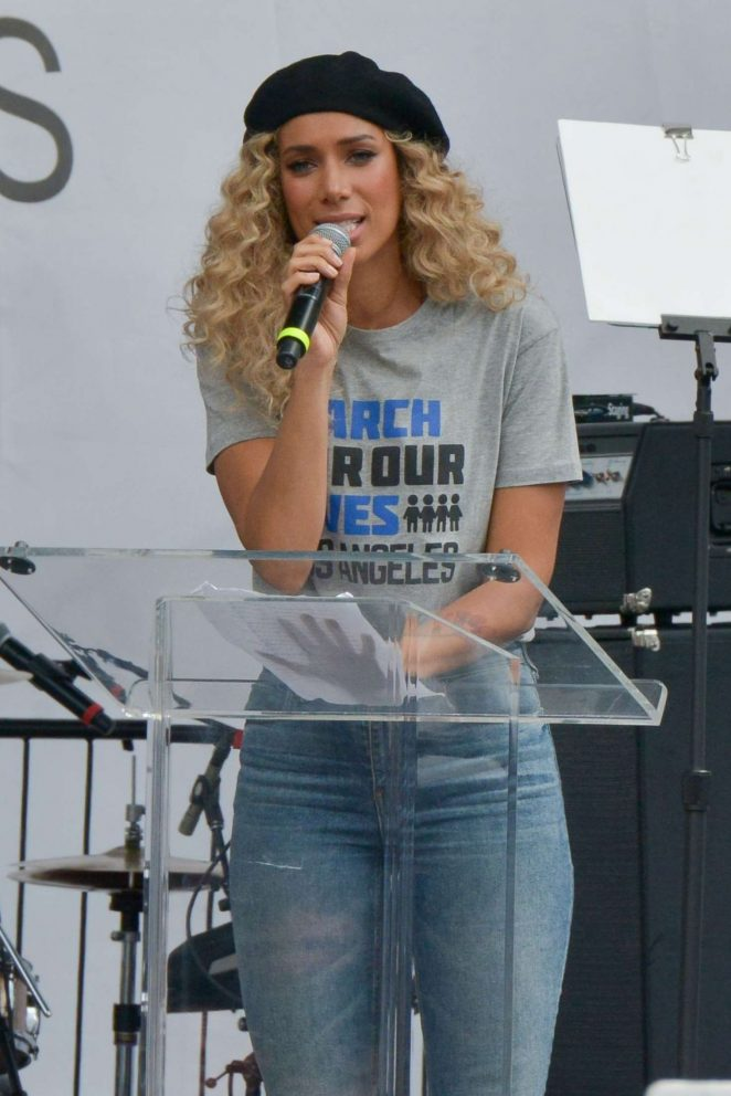 Leona Lewis - March at the anti-gun 'March For Our Lives' in LA
