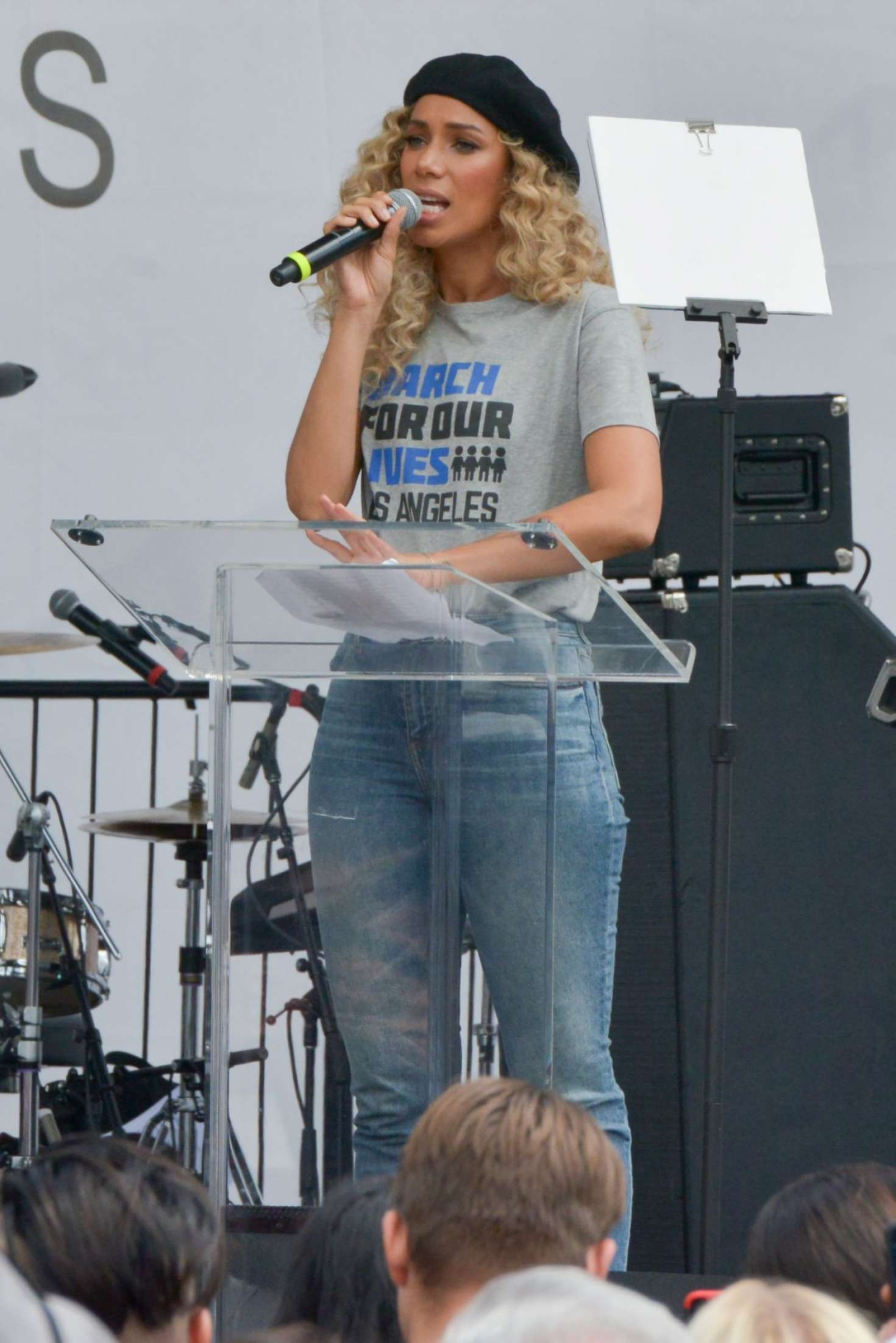 Leona Lewis 2018 : Leona Lewis: March at the anti-gun March For Our Lives -06