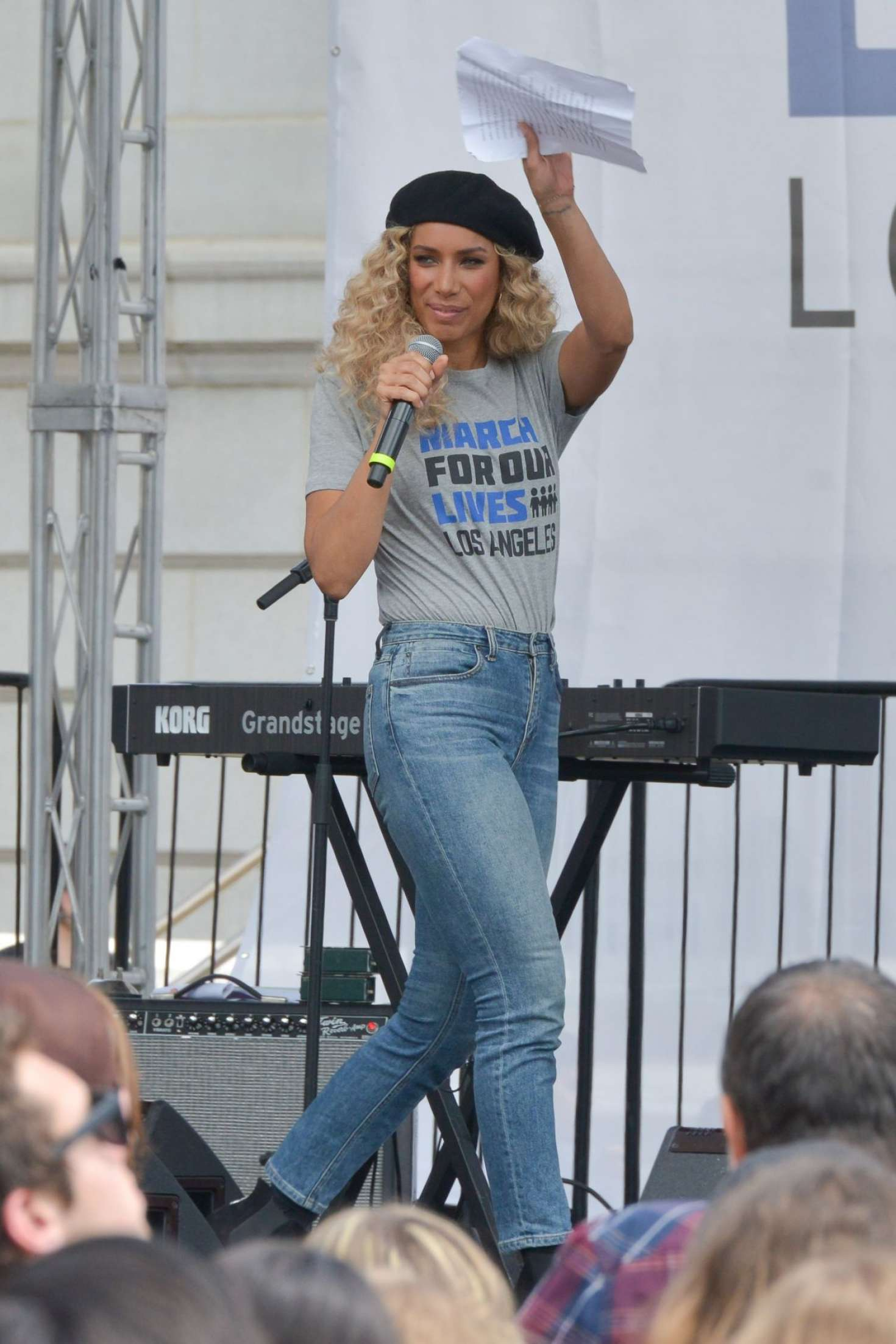 Leona Lewis 2018 : Leona Lewis: March at the anti-gun March For Our Lives -07