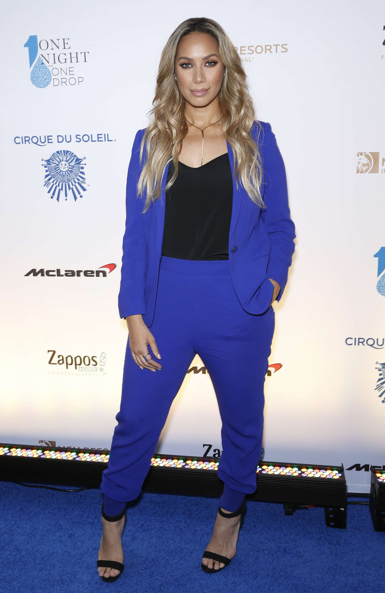 Leona Lewis - One Night for ONE DROP Blue Carpet in Las Vegas