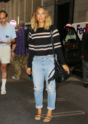 Leona Lewis in Jeans Out in NYC