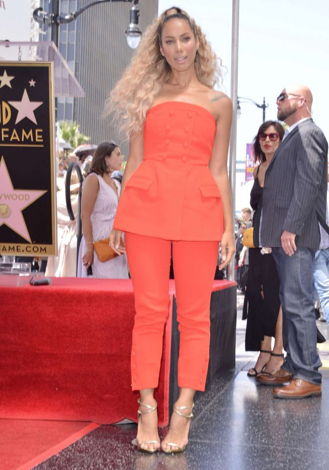 Leona Lewis - Simon Cowell Star On The Hollywood Walk Of Fame Ceremony in LA