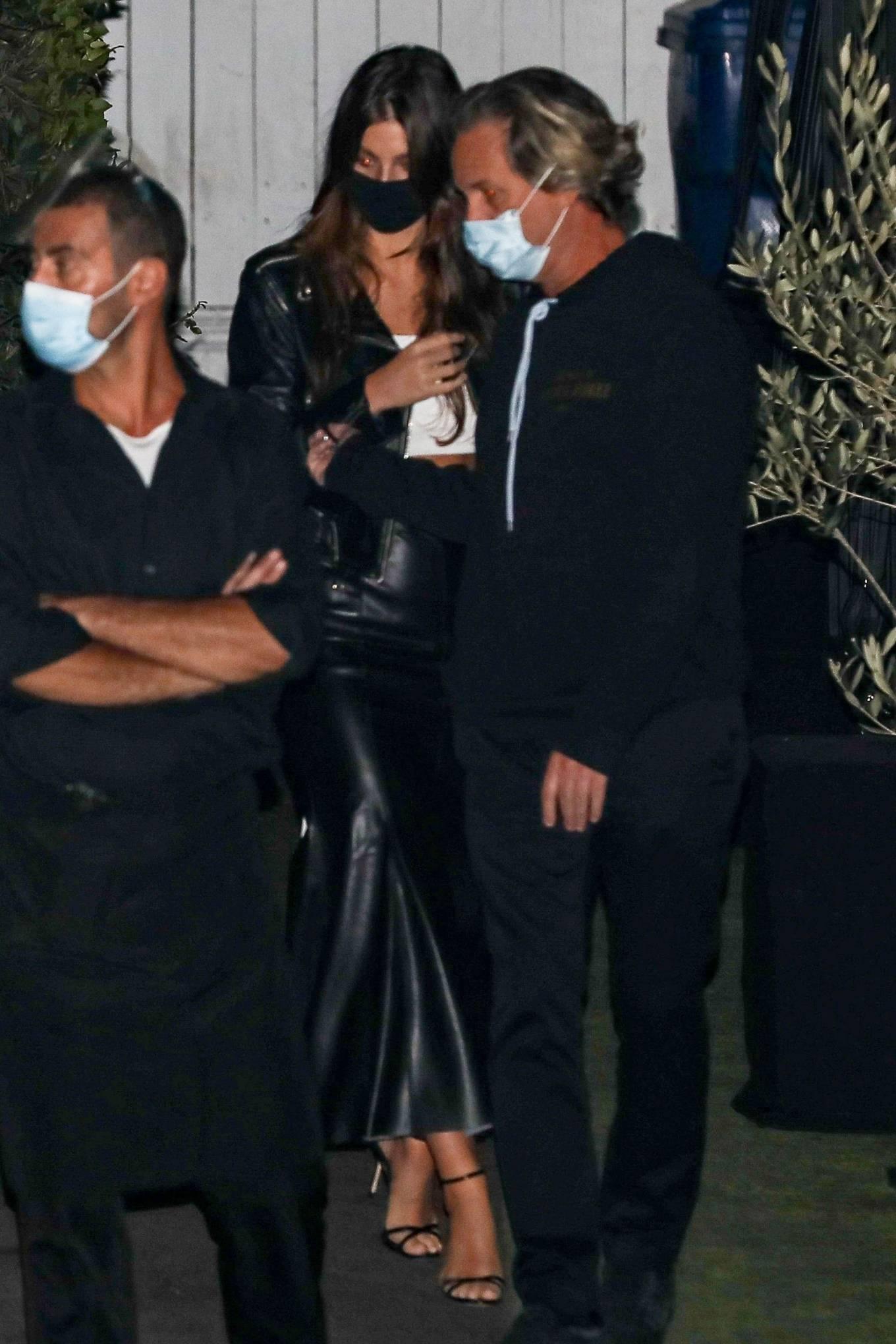 Camila Morrone 2020 : Leonardo DiCaprio and Camila Morrone – Seen with friends at Giorgio Baldi-11