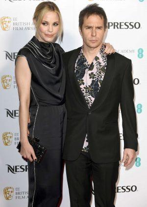 Leslie Bibb and Sam Rockwell - 2018 BAFTA Nominees Party in London