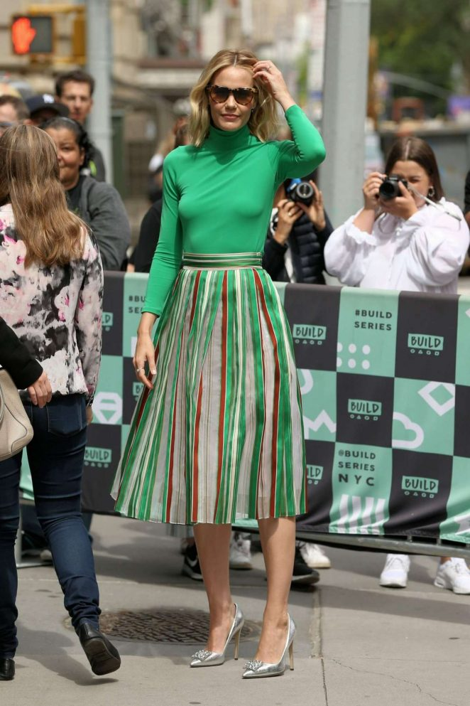 Leslie Bibb – Arrives at AOL Build Series in New York