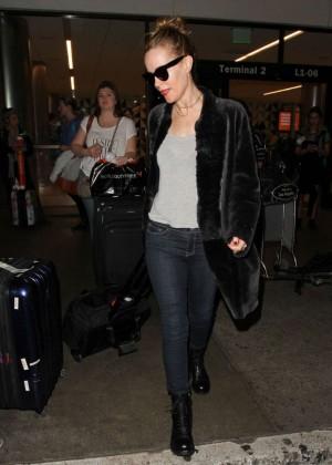 Leslie Mann Arrives at LAX