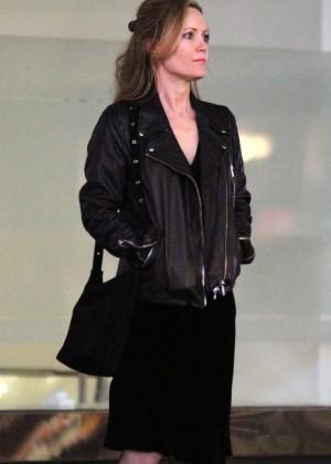Leslie Mann - Filming 'The Comedian' in Manhattan
