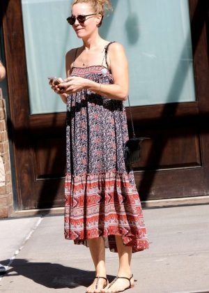 Leslie Mann in Long Dress out in NYC