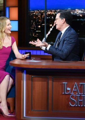 Leslie Mann on The Late Show With Stephen Colbert in NYC