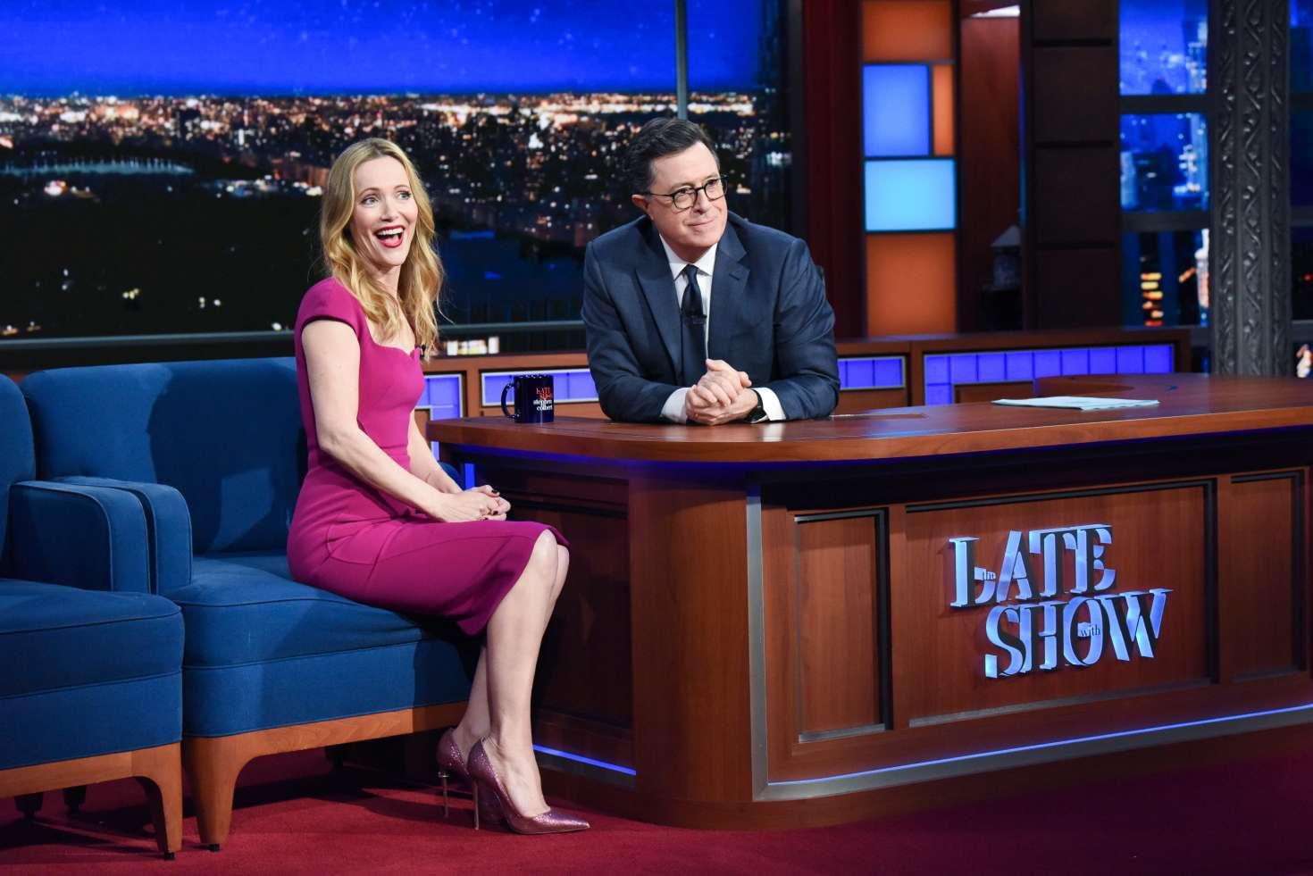 Leslie Mann 2018 : Leslie Mann on The Late Show With Stephen Colbert -02