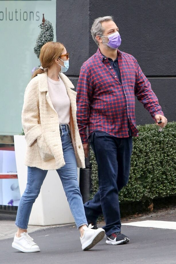 Leslie Mann - With Judd Apatow seen after lunch in Santa Monica