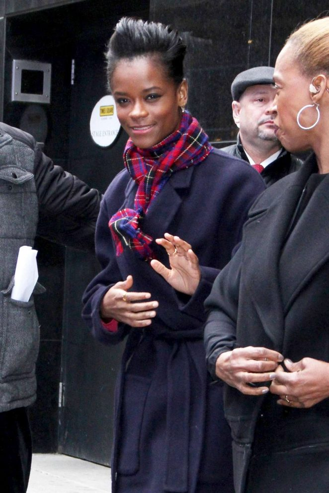 Letitia Wright - Leaving 'Good Morning America' in New York City