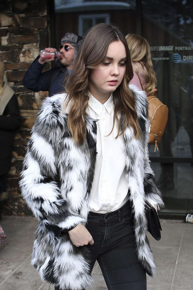 Liana Liberato out at 2017 Sundance Film Festival in Utah
