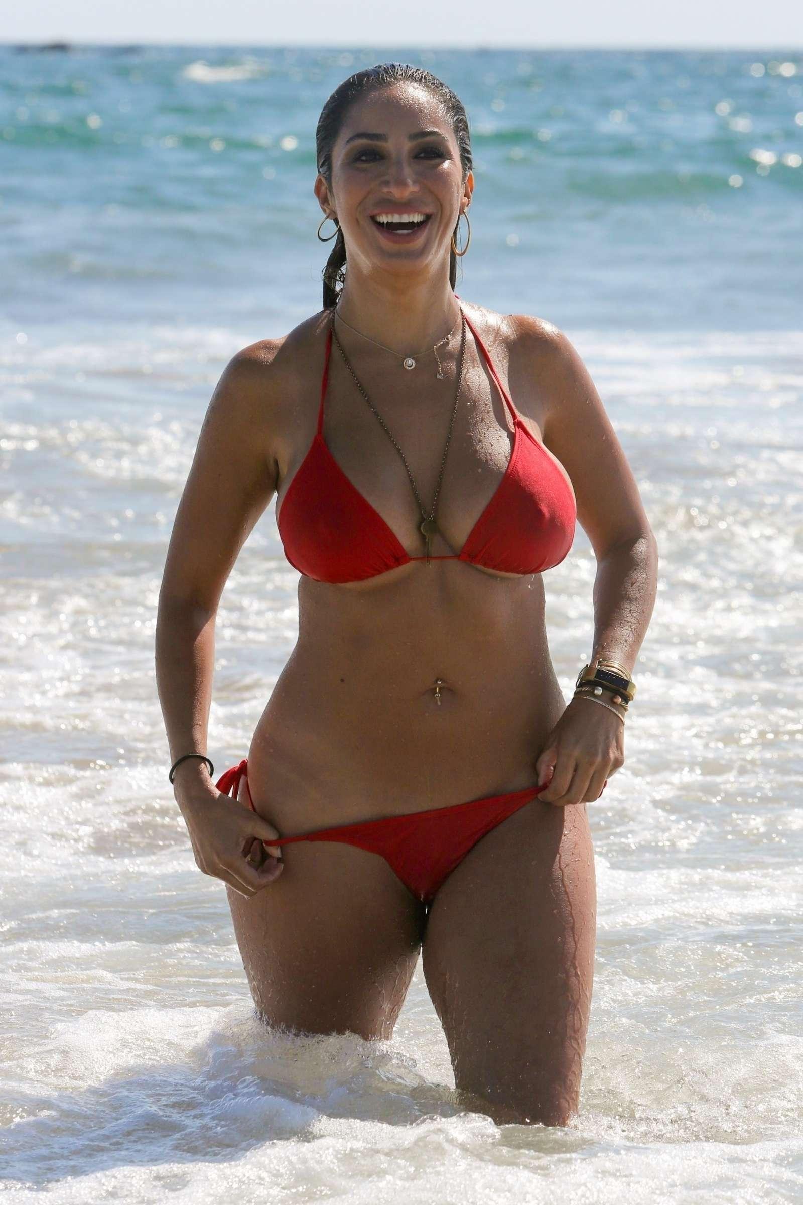 BETHENNY FRANKEL in Bikini at a Beach in Miami on New Year