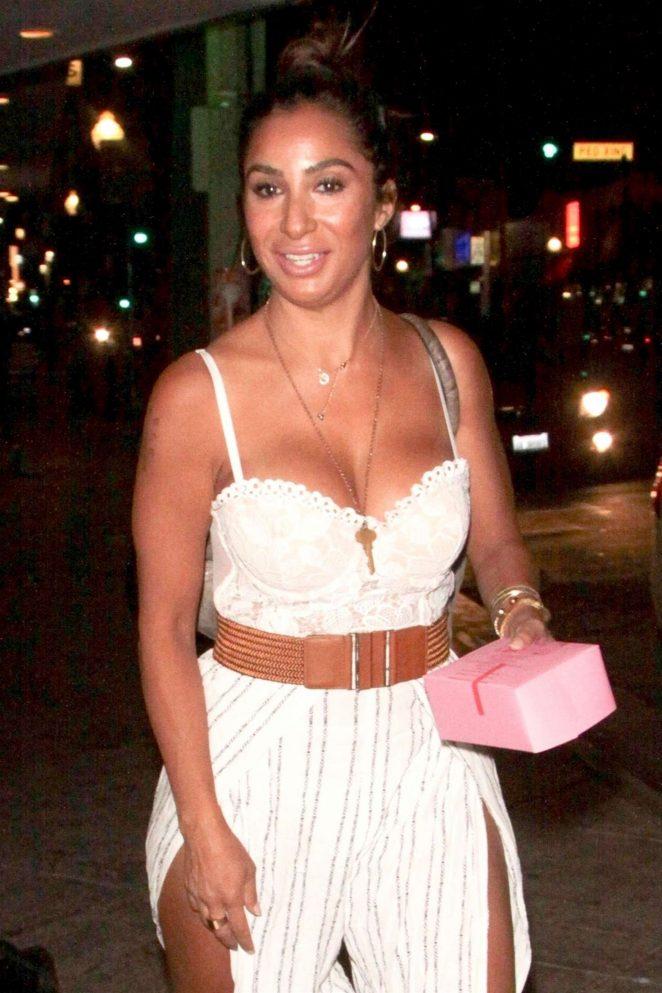 Liana Mendoza – Leaves Canter's restaurant in Los Angeles