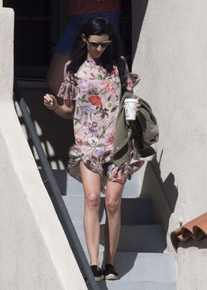 Liberty Ross in Floral Summer Dress out in Los Angeles