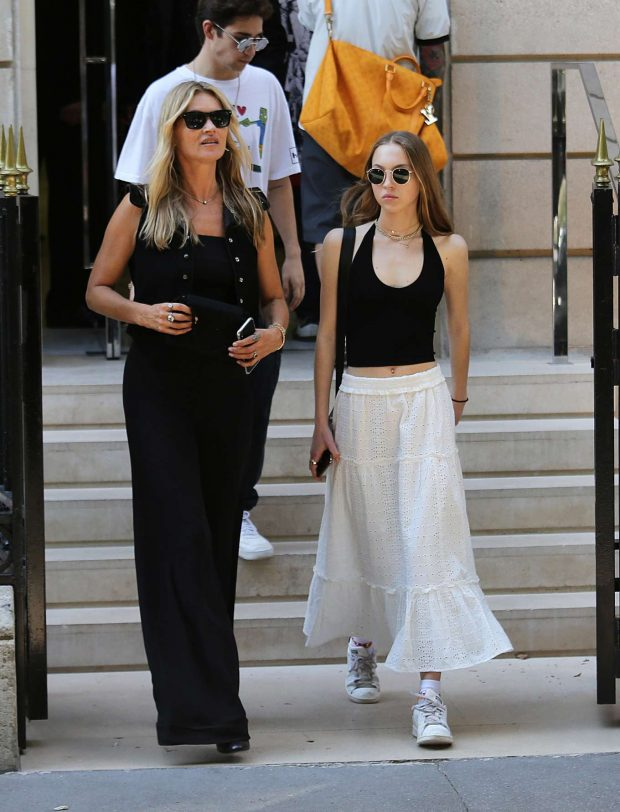 Lila Grace Moss Hack and Kate Moss - Out in Paris
