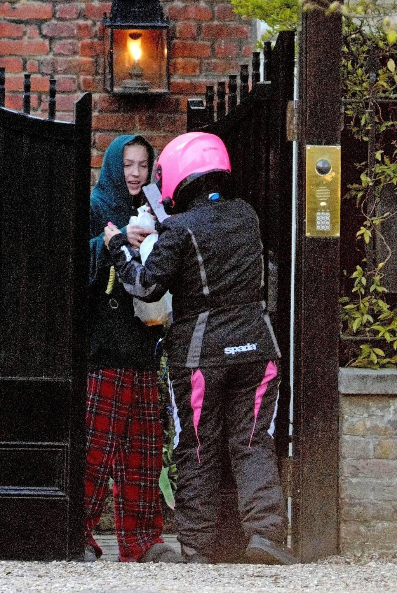 Lila Grace Moss 2021 : Lila Grace Moss – In moto gear in London-01