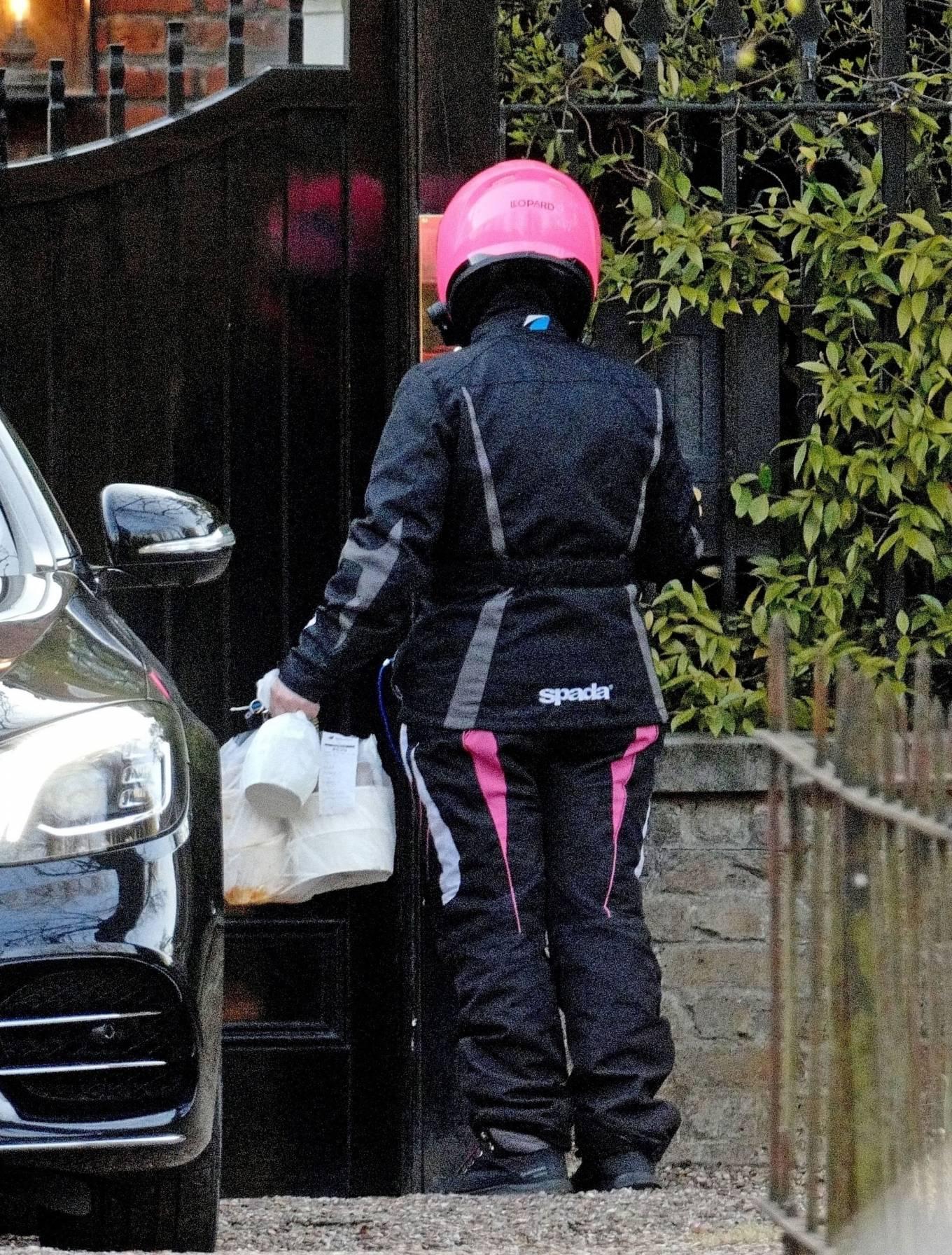 Lila Grace Moss 2021 : Lila Grace Moss – In moto gear in London-04