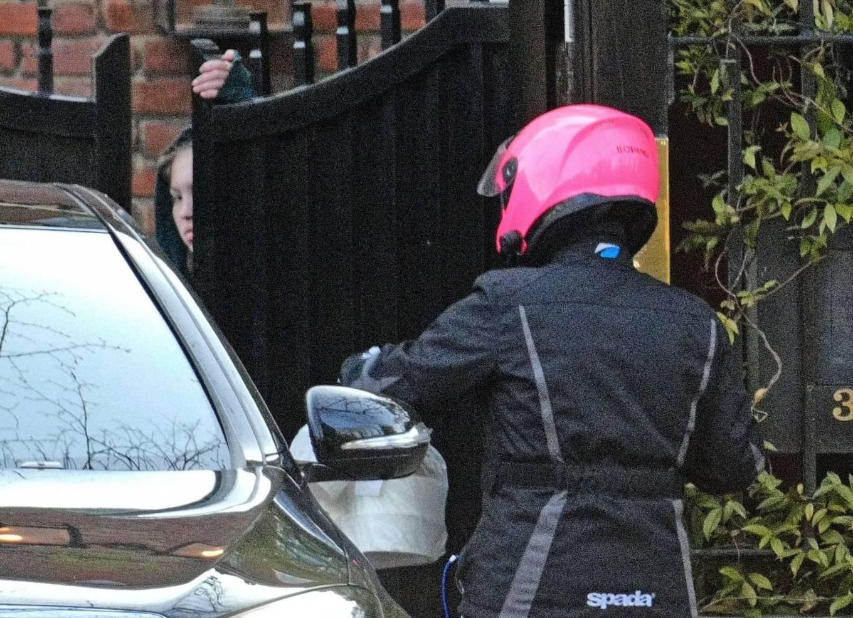 Lila Grace Moss 2021 : Lila Grace Moss – In moto gear in London-06
