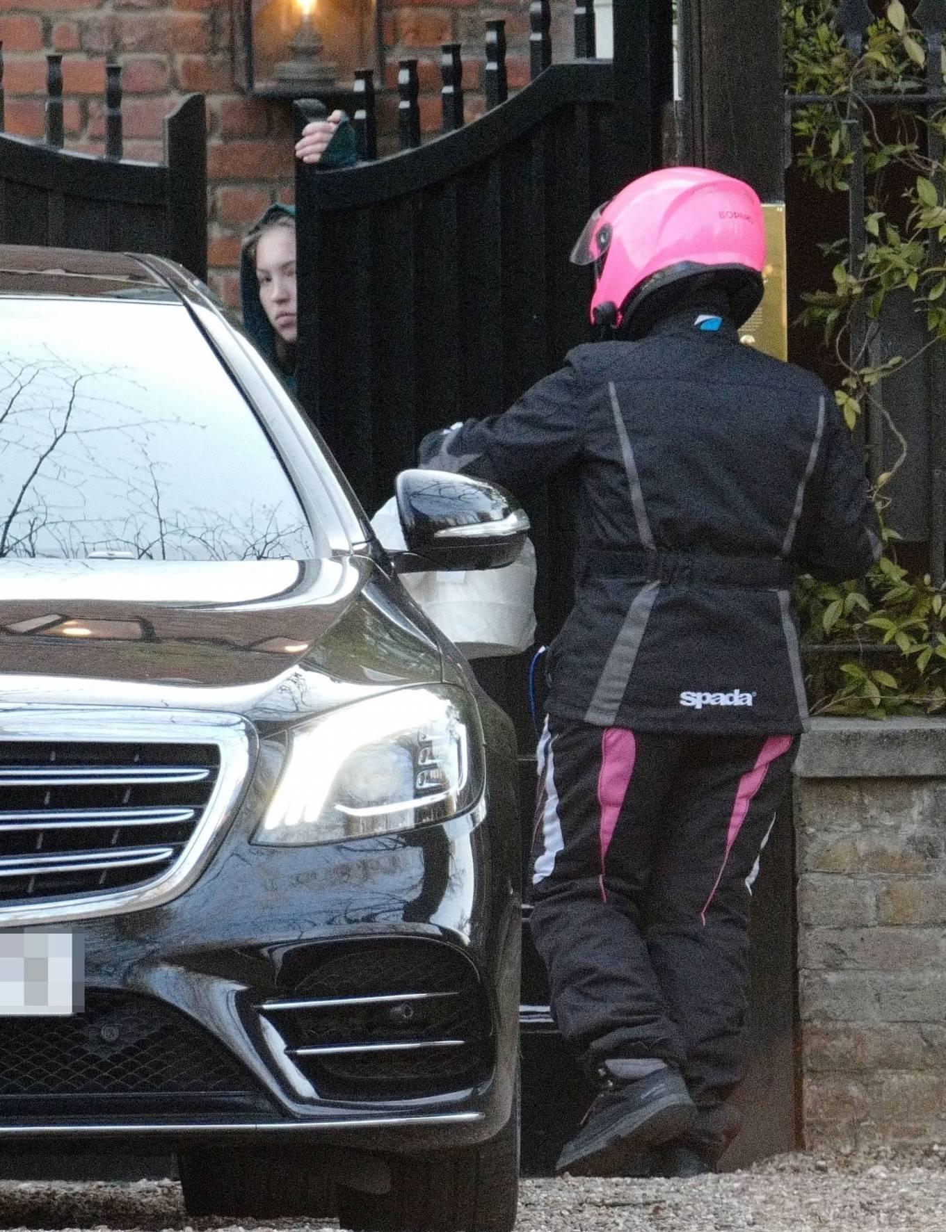 Lila Grace Moss 2021 : Lila Grace Moss – In moto gear in London-09