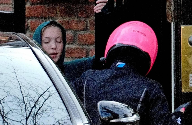 Lila Grace Moss 2021 : Lila Grace Moss – In moto gear in London-12