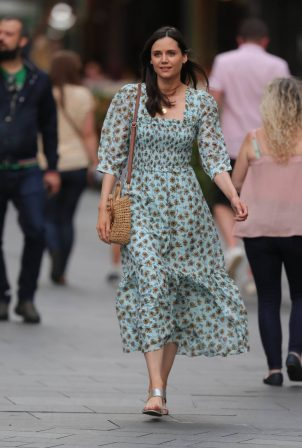Lilah Parsons - In a floral summer dress in London