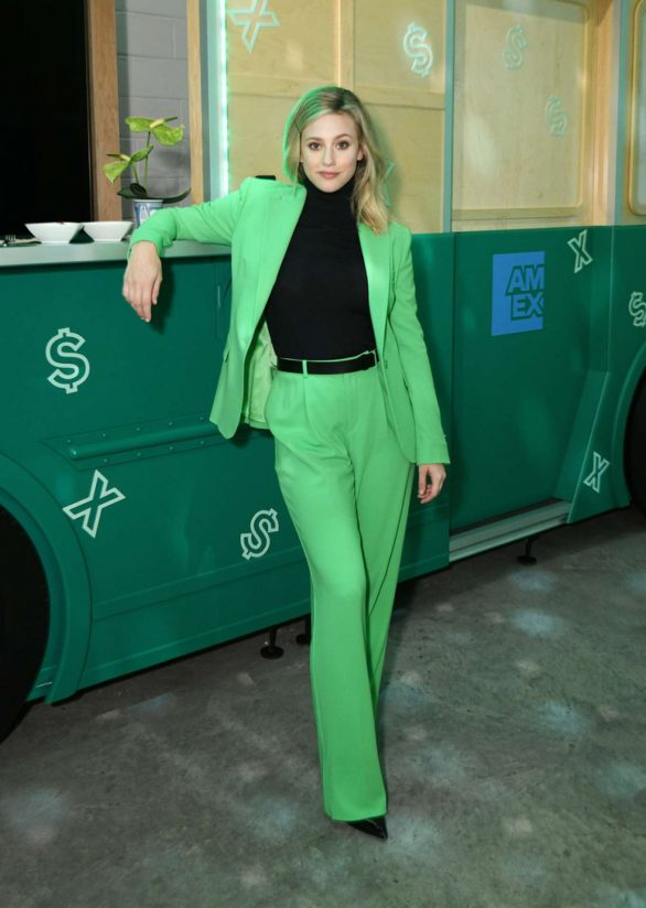 Lili Reinhart - AMEX Celebrates The Refresh Of Green From Amex in Brooklyn