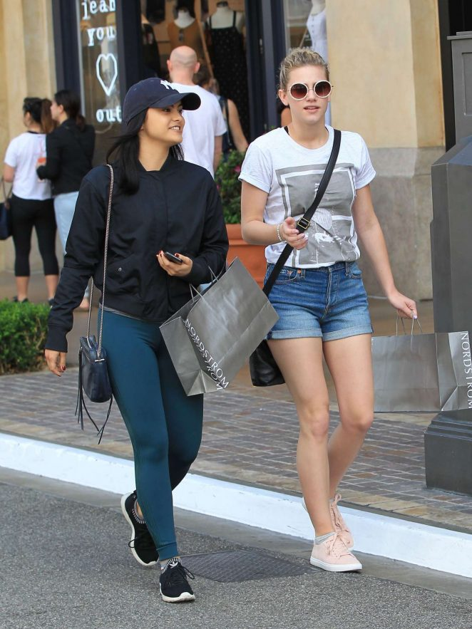 Lili Reinhart and Camila Mendes - Shopping at The Grove in LA