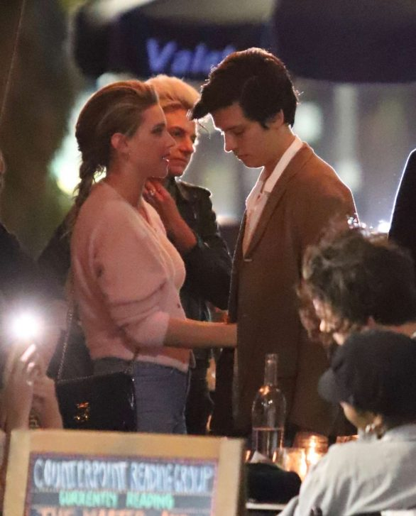 Lili Reinhart and Cole Sprouse are seen after a romantic dinner date in Echo Park