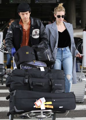 Lili Reinhart and Cole Sprouse - Arriving at LAX Airport in Los Angeles