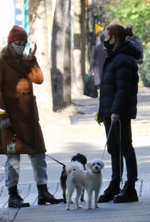 Lili Reinhart and Madelaine Petsch - Seen while on a walk in Vancouver